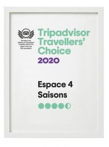 Hôtel Espace 4 Saisons, Tripadvisor Traveller's Choise 2020